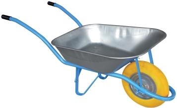 Brouette bleue galba roue increvable